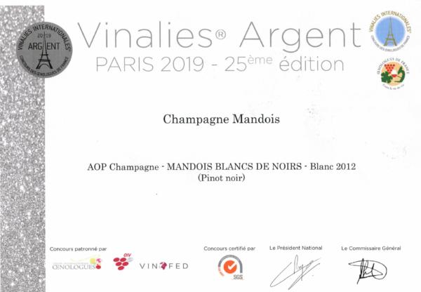 Vinalies Argent Blanc de Noirs 2012