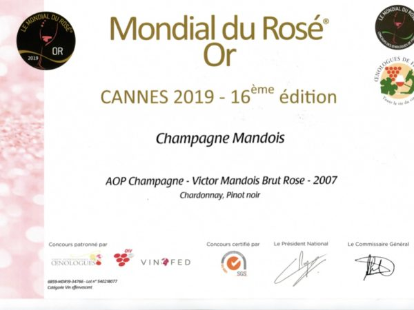 Mondial rosé Victor 2007