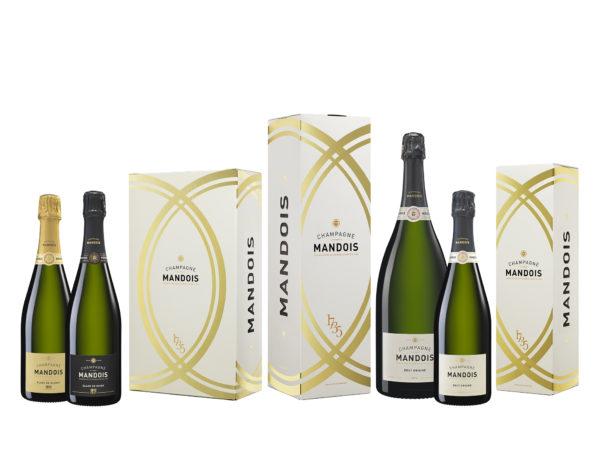 Gamme nouveaux coffrets Champagne Mandois 2020