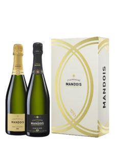 Etui 2 bouteilles Champagne Mandois