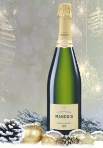 Blanc de Blancs Champagne Mandois Noel